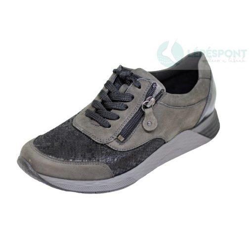 Waldlaufer Ortho Tritt fűzős cipzáras cipő Halice nubuk/sztreccs/lakkbőr szürke