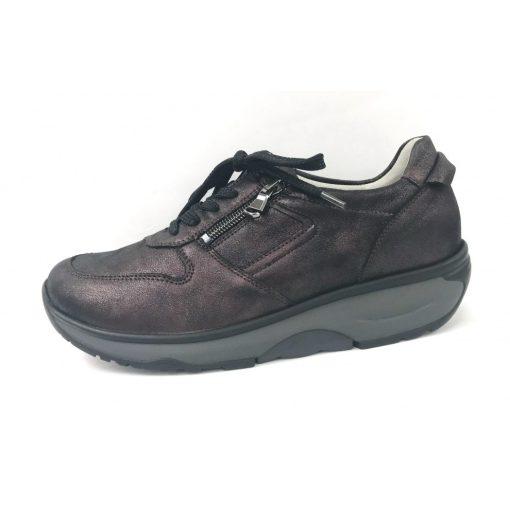 Waldlaufer dynamic fűzős cipzáras cipő H-Sonja fényes nubuk bordó