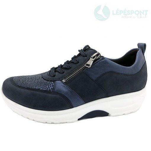 Waldlaufer dynamic fűzős cipzáras cipő H-Sonja nubuk/sztreccs mintás kék