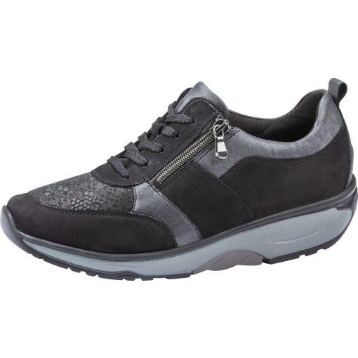 Waldlaufer dynamic fűzős cipzáras cipő H-Sonja nubuk/sztreccs fekete