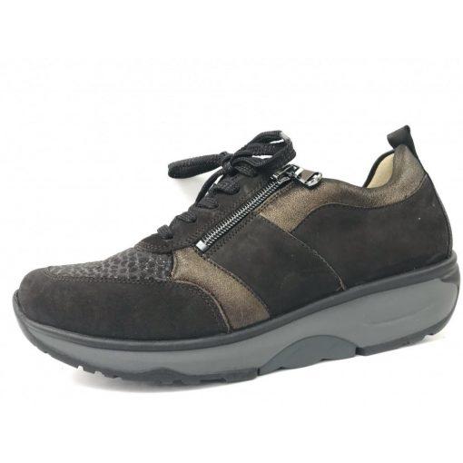 Waldlaufer dynamic fűzős cipzáras cipő H-Sonja nubuk/sztreccs barna