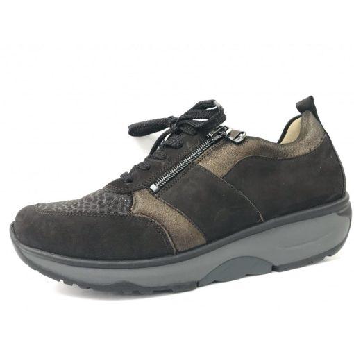 Waldlaufer dynamic gördülő talpú fűzős cipzáras cipő H-Sonja nubuk/sztreccs barna