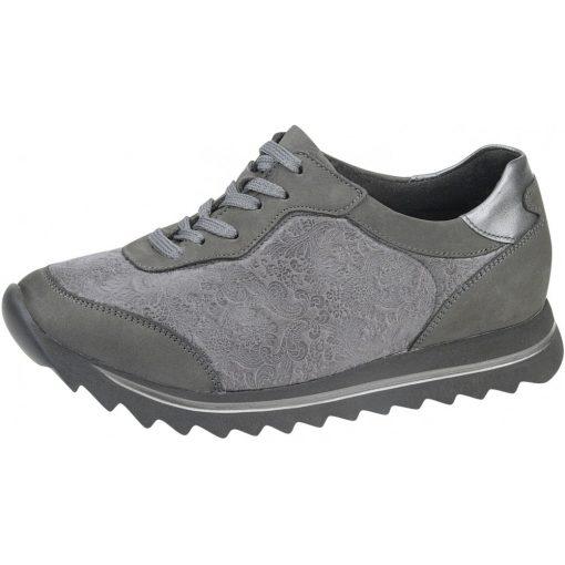 Waldlaufer Ortho Tritt fűzős cipő Haiba-Soft nubuk/sztreccs szürke ezüst