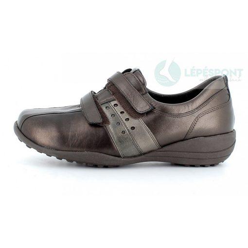 Waldlaufer Ortho Tritt tépőzáras cipő Katja sztreccsbőr bronz
