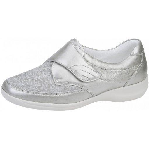 Waldlaufer Ortho Tritt tépőzáras cipő Millu-S bőr/sztreccs ezüst