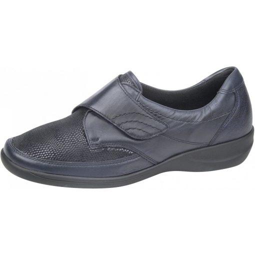 Waldlaufer Ortho Tritt tépőzáras cipő Millu-S bőr/sztreccs sötétkék